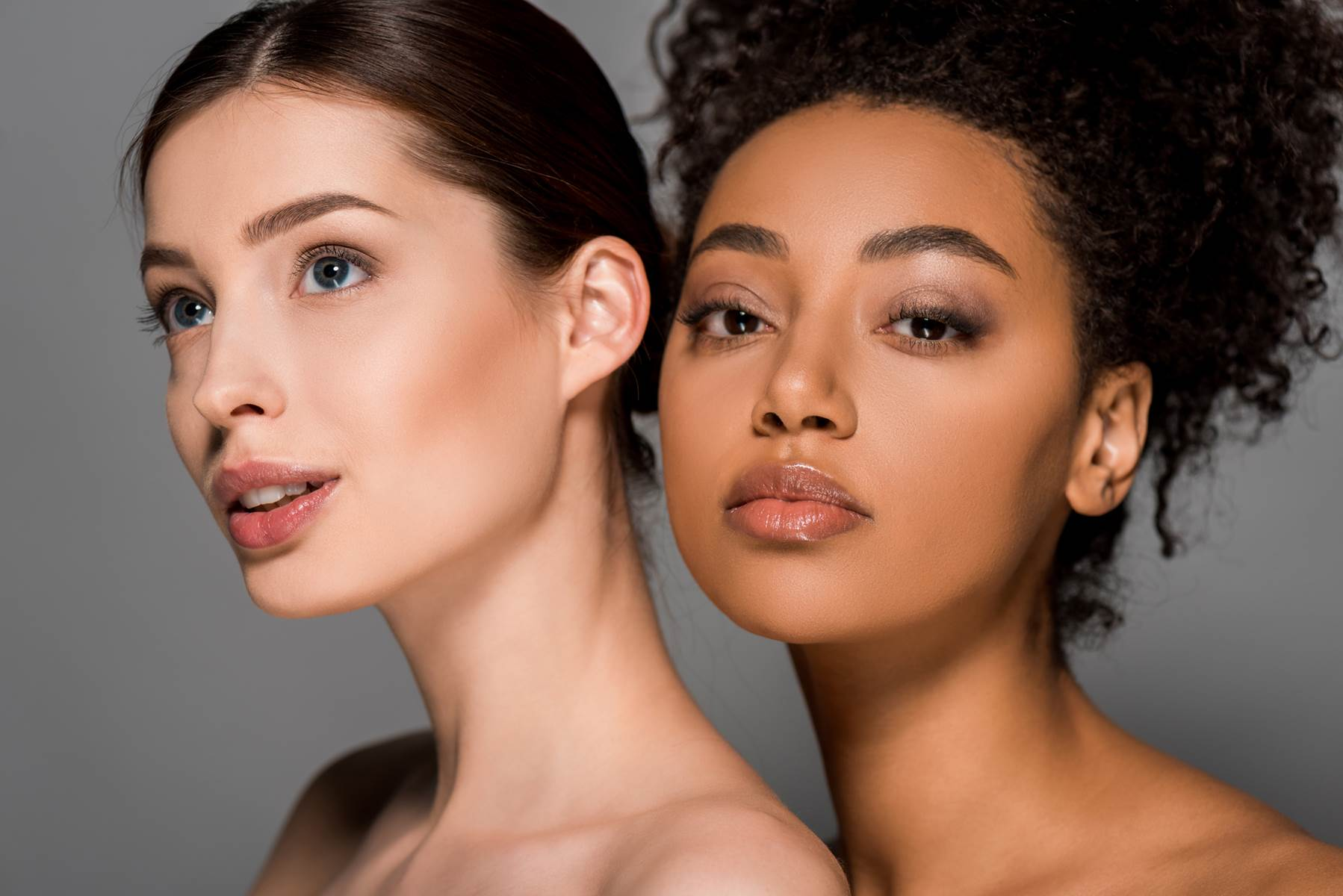 Multiracial women with perfect skin